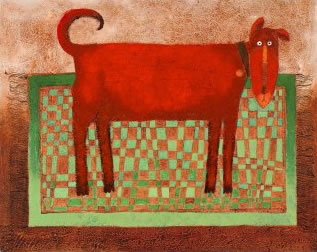 Rug Rover Red by Toni Goffe