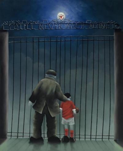 Shankly Gates by Mackenzie Thorpe