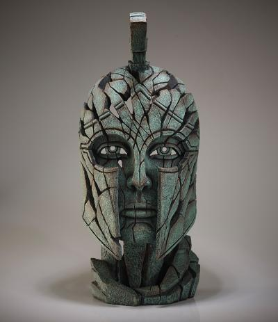 Spartan Bust - Verdi Gris by Edge Sculptures by Matt Buckley