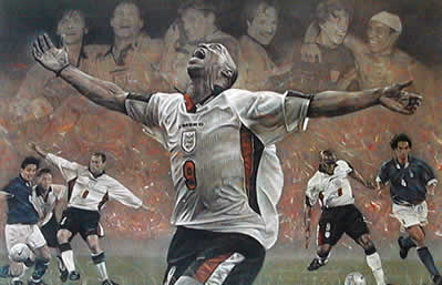 Spirit Of England - Ian Wright World Cup Qualifier 98 by Stephen Doig