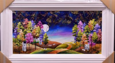 Spring Meadows (36 x 18) by Rozanne Bell