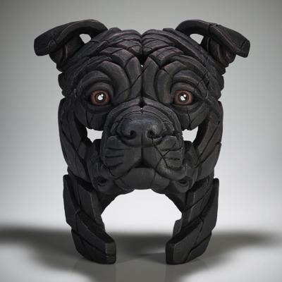 Staffordshire Bull Terrier Bust - Black