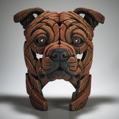 Staffordshire Bull Terrier Bust - Red