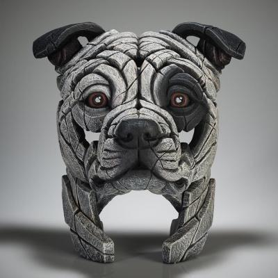 Staffordshire Bull Terrier Bust - White Patch