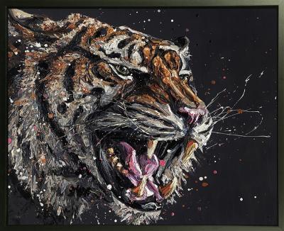 Stark- Hand Embellished Canvas