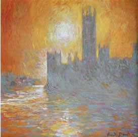Study For Houses Of Parliament At Sunset