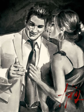 Study For The Proposal III (Deluxe) by Fabian Perez