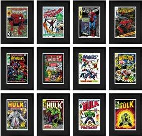 Super Heroes - Boxed Set Of Three Portfolios (Avengers, Hulk, Spiderman)