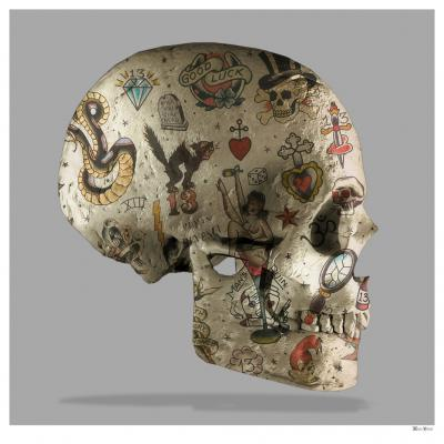 Tattoo Skull Side - Large
