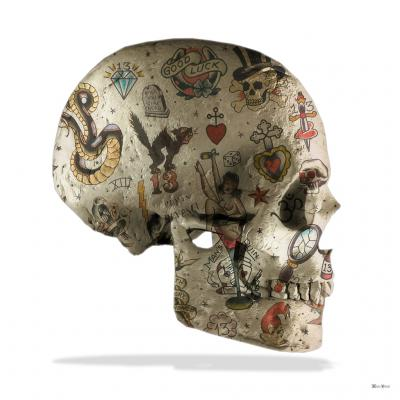 Tattoo Skull Side - Small