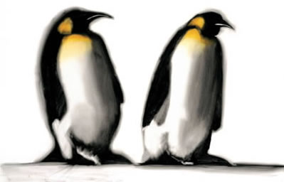 The King & I - Penguins by Paul Powis