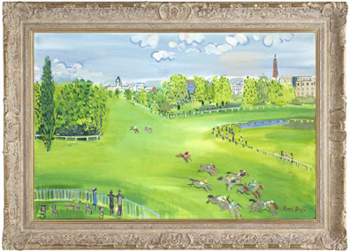 The Racecourse At Longchamps (Raoul Dufy)