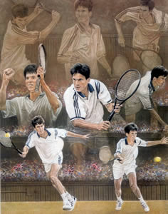 Tim Henman - Tennis by Stephen Doig