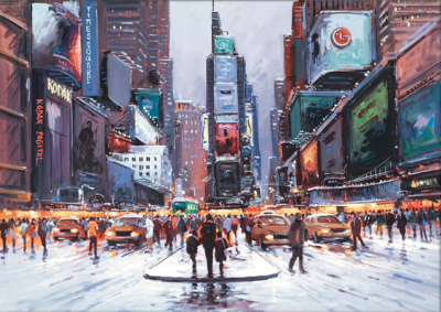 Time Square at Twilight by Henderson Cisz