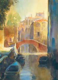 Venetian Canal II by Cecil Rice