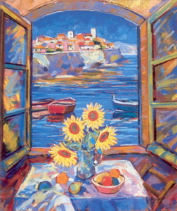 view-of-antibes-sunflowers-1998