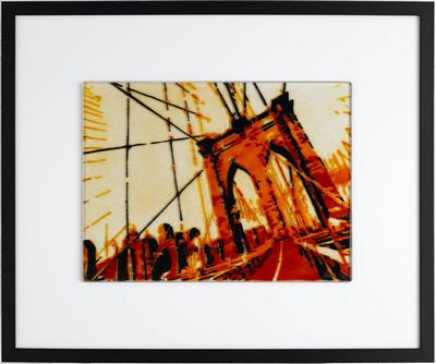 View Of Brooklyn Bridge - Orange