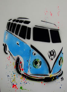 VW Camper - Turquoise