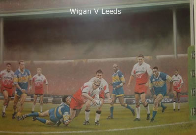 Wembley Warriors - Wigan vs Leeds by Stephen Doig