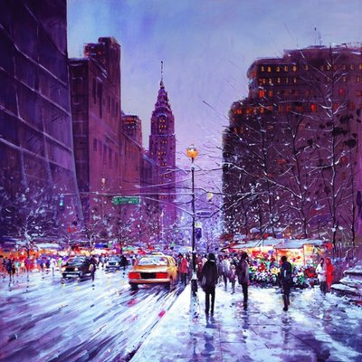 Winter Evening New York by Henderson Cisz