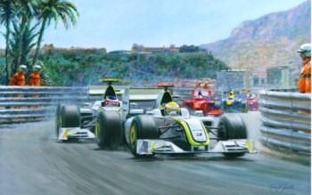 1-2 Monaco Grand Prix 2009 (Jenson Button & Rubens Barrichello) by Tony Smith