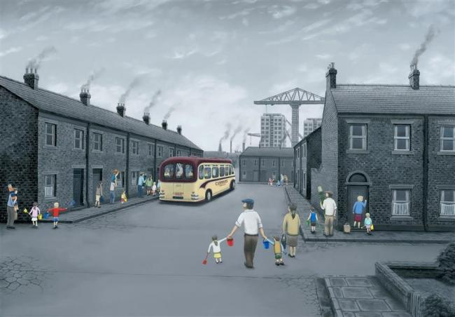 All Aboard for the Seaside- Canvas by Leigh Lambert