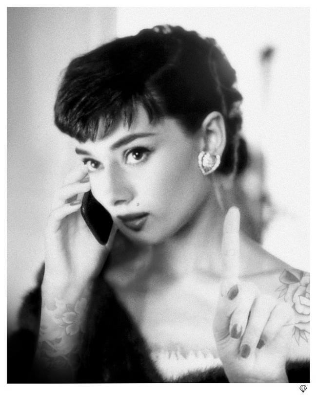 Audrey Hepburn Selfie by JJ Adams