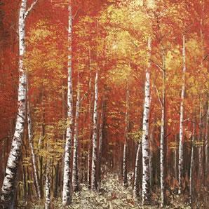 Autumn Splendour - White Frame by Inam