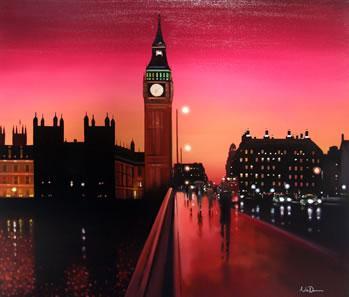 Big Ben Sunset (Original) by Neil Dawson