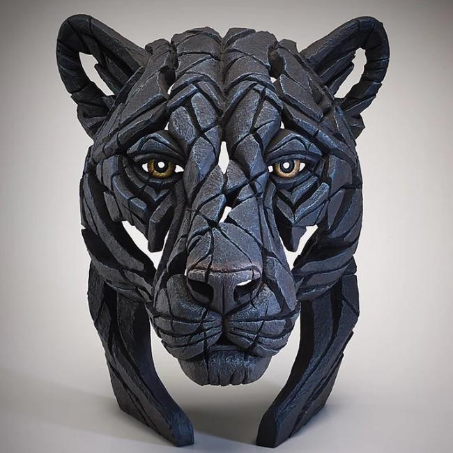 Black Panther Bust by Edge Sculptures by Matt Buckley