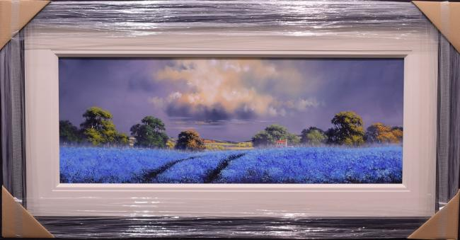 Blue Field (15x40) by Allan Morgan