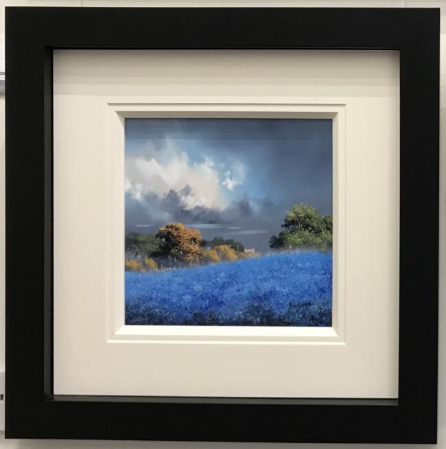 Blue Fields III (12 x 12) by Allan Morgan