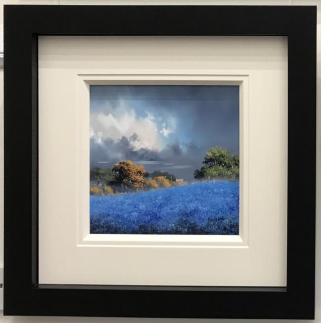 Blue Fields III (12 x 12) by Allan Morgan