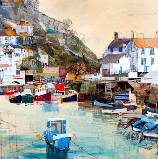Bobbing Boats, Polperro by Tom Butler