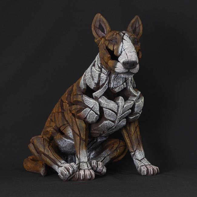 Bull Terrier - Brindle by Edge Sculptures by Matt Buckley