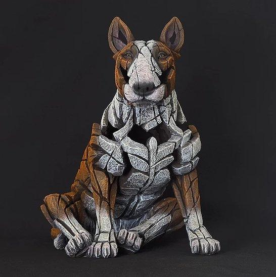 Bull Terrier - Red by Edge Sculptures by Matt Buckley