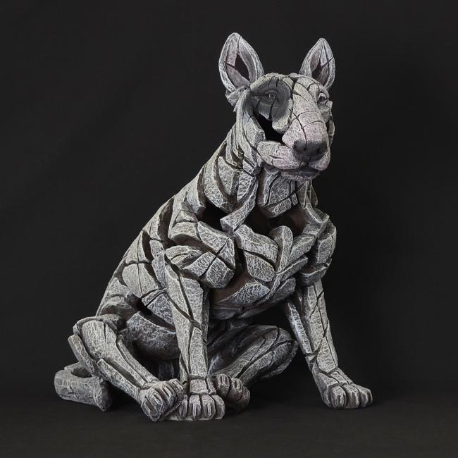 Bull Terrier - White by Edge Sculptures by Matt Buckley