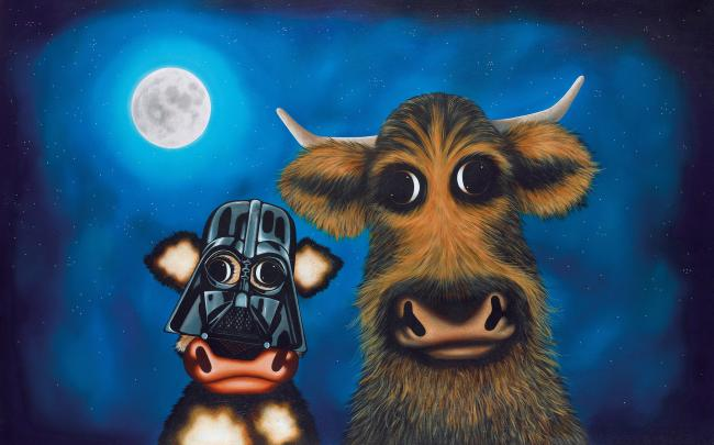 Calf Vader And Chewie The Cud by Caroline Shotton