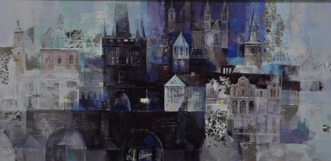 City In Blue by Veronica Benoni