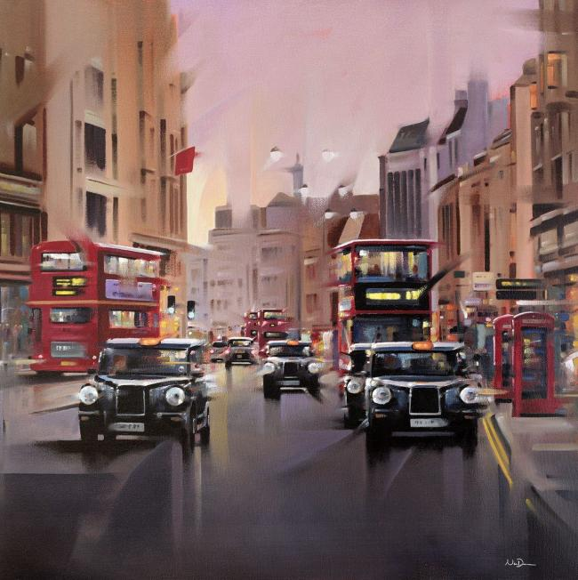 City Streets - Canvas by Neil Dawson