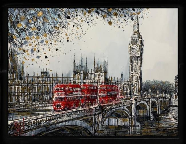 Crossing Westminster by Nigel Cooke