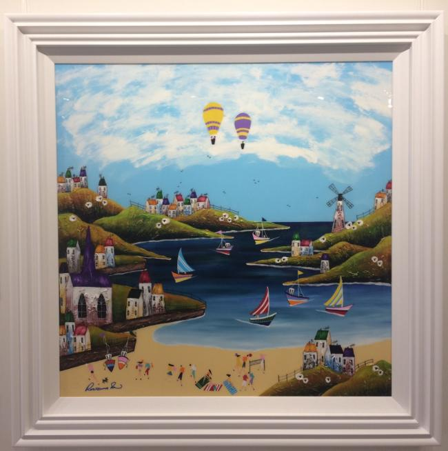 Day Beach (35 x 35) by Roz Bell