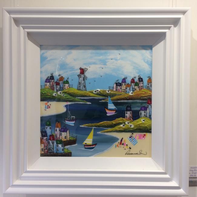 Day Beach II (16 x 16) by Rozanne Bell