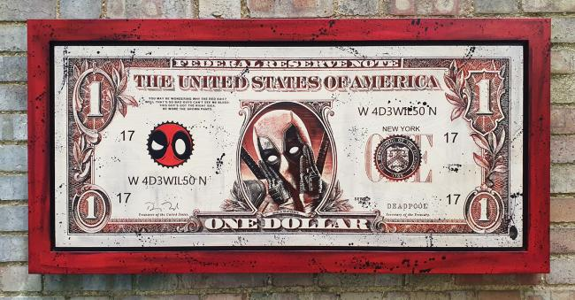 Deadpool $100 Dollar Bill by Rob Bishop