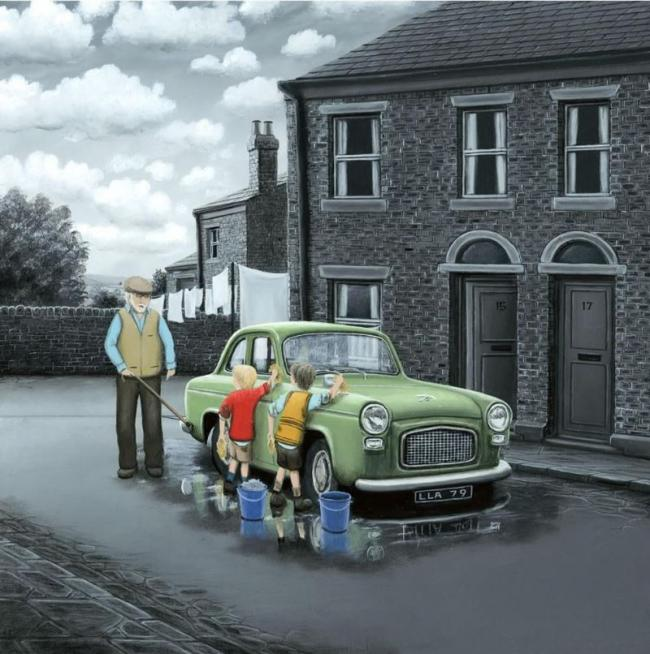 Don't Forget Them Wheels - Canvas by Leigh Lambert