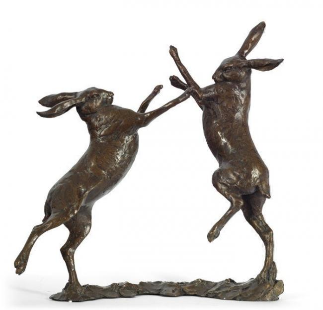 Duel (Boxing Hare) by Michael Simpson