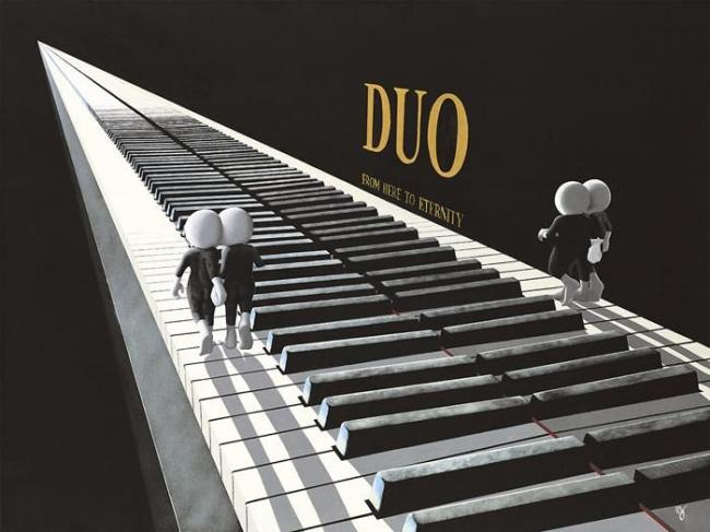 Duo - Canvas by Mark Grieves