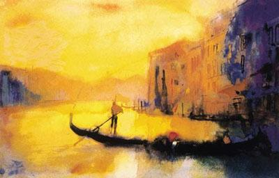 Dusk - Venice by Cecil Rice