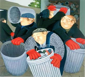Dustbinmen by Beryl Cook
