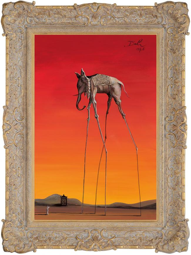 Elephant In The Style Of Salvador Dali 1948 by John Myatt